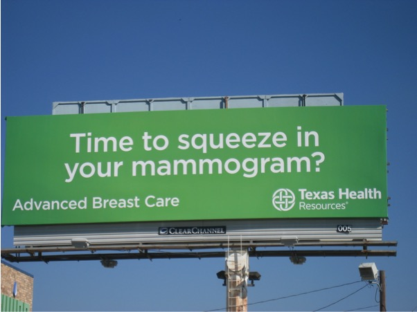 Mammogram Billboard